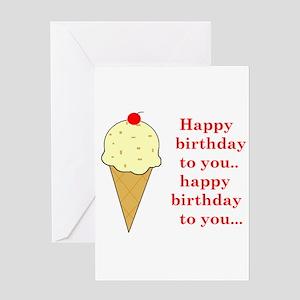 HAPPY BIRTHDAY (ICE CREAM) Greeting Card