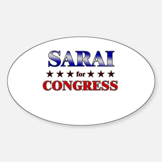 SARAI for congress Oval Decal