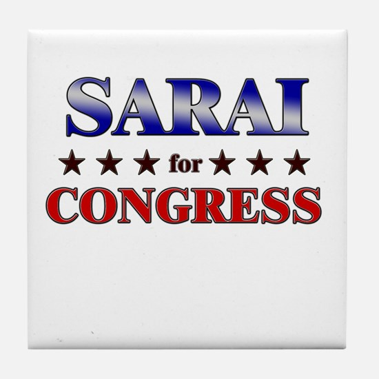SARAI for congress Tile Coaster