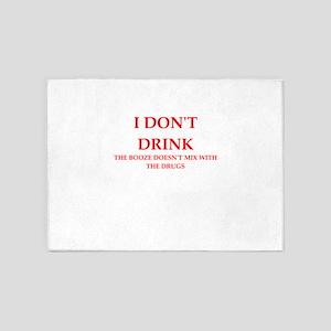 drink 5'x7'Area Rug