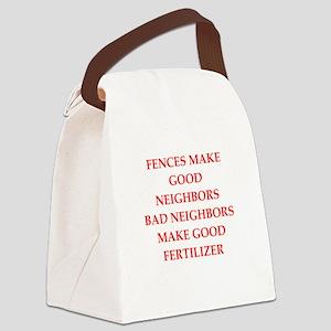 fences Canvas Lunch Bag