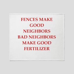 fences Throw Blanket