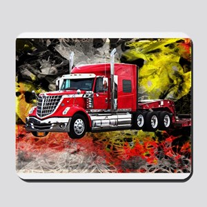 Big Truck - Red and Chrome Mousepad
