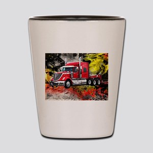 Big Truck - Red and Chrome Shot Glass