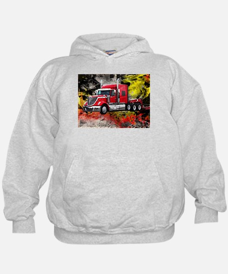 Big Truck - Red and Chrome Hoodie