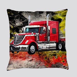 Big Truck - Red and Chrome Everyday Pillow