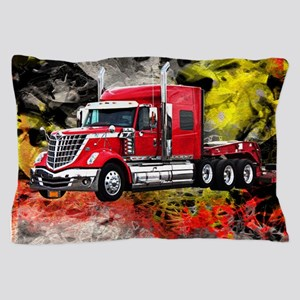 Big Truck - Red and Chrome Pillow Case