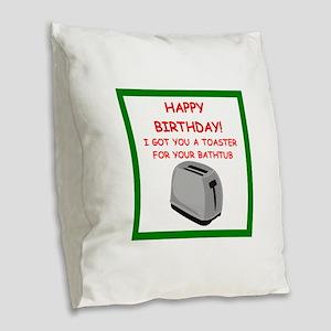 birthday Burlap Throw Pillow