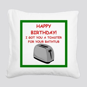 birthday Square Canvas Pillow