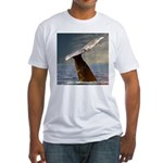 WILD SIDE WHALE Fitted T-Shirt