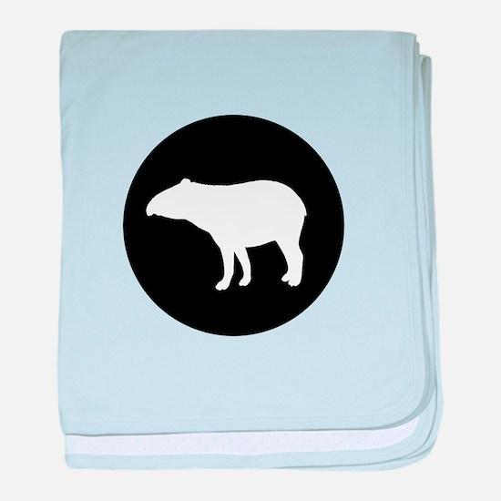 Tapir baby blanket