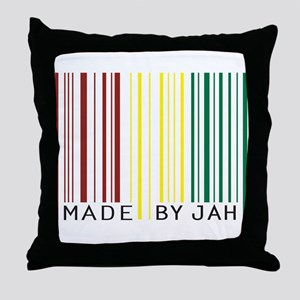 made by jah Throw Pillow