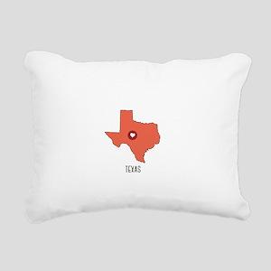 Texas State Heart Rectangular Canvas Pillow