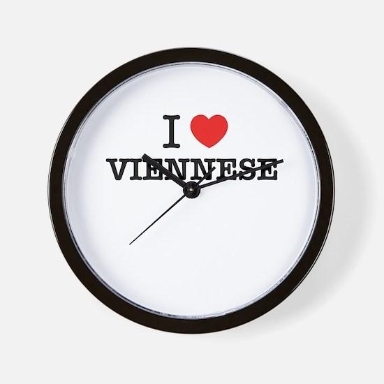 I Love VIENNESE Wall Clock