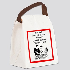 time Canvas Lunch Bag