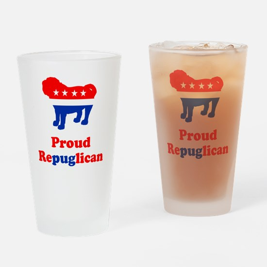 Proud Repuglican Drinking Glass