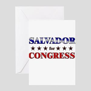 SALVADOR for congress Greeting Card