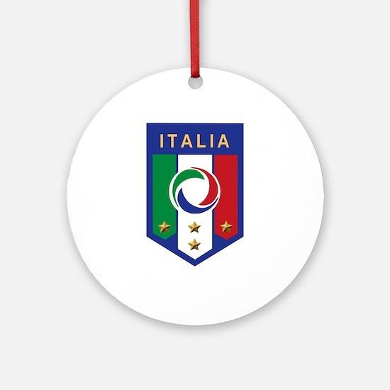 Italian Soccer emblem Ornament (Round)