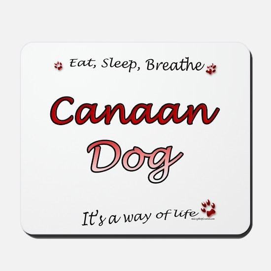 Canaan Dog Breathe Mousepad