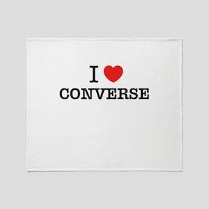 I Love CONVERSE Throw Blanket