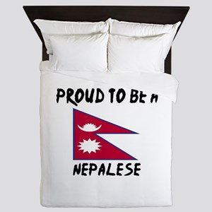 Proud To Be Nepalese Queen Duvet