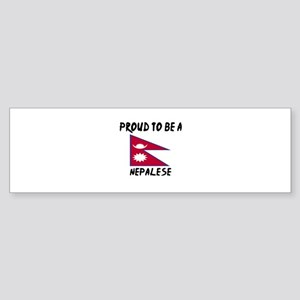 Proud To Be Nepalese Sticker (Bumper)