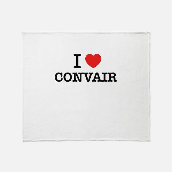 I Love CONVAIR Throw Blanket