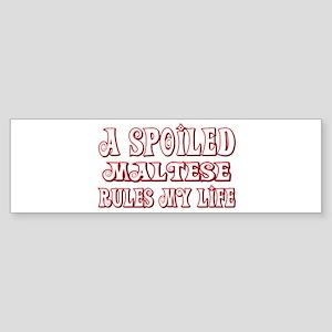 Spoiled Maltese Bumper Sticker