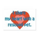 I Share My Heart Mini Poster Print
