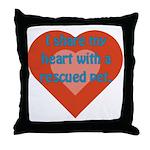 I Share My Heart Throw Pillow
