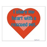 I Share My Heart Small Poster