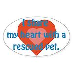 I Share My Heart Oval Sticker
