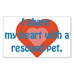 I Share My Heart Rectangle Sticker