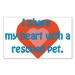 I Share My Heart Rectangle Sticker