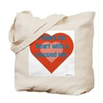 I Share My Heart Tote Bag