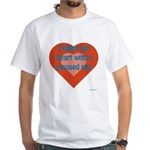 I Share My Heart White T-Shirt