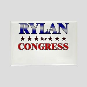 RYLAN for congress Rectangle Magnet