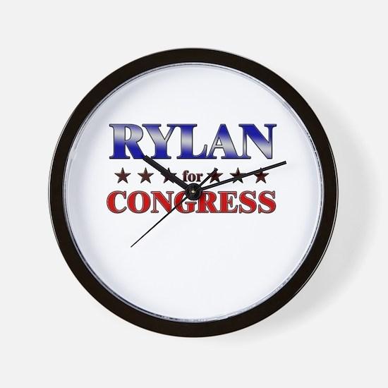 RYLAN for congress Wall Clock