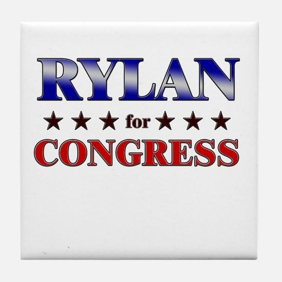 RYLAN for congress Tile Coaster