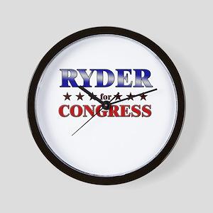 RYDER for congress Wall Clock