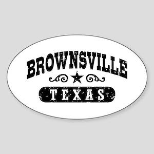 Brownsville Texas Sticker (Oval)