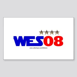 """""""Wes 08"""" Rectangle Sticker"""