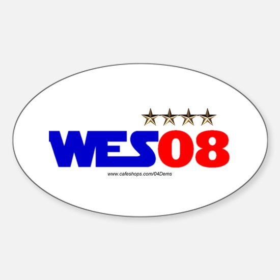 """Wes 08"" Oval Decal"