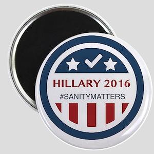 HILLARY 2016 #sanitymatters Magnets
