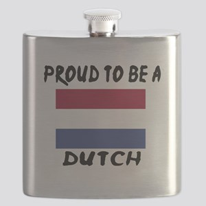 Proud To Be Dutch Flask