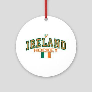 IE Ireland(Eire/Erin)Hockey Ornament (Round)