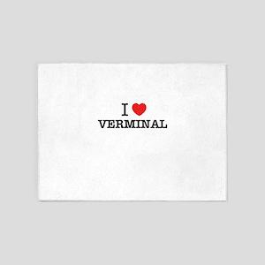 I Love VERMINAL 5'x7'Area Rug