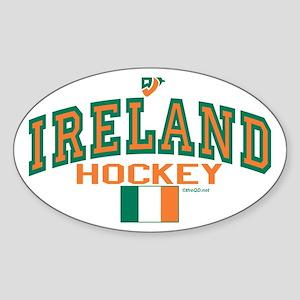 IE Ireland(Eire/Erin)Hockey Sticker (Oval)