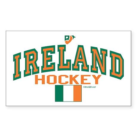 IE Ireland(Eire/Erin)Hockey Sticker (Rectangle)