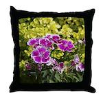 Purple Picotee Throw Pillow